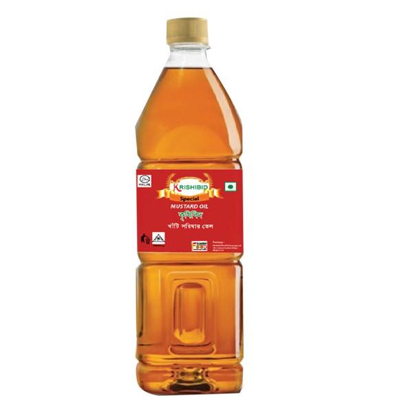 Krishibid Pure Mustard Oil (1 Ltr)