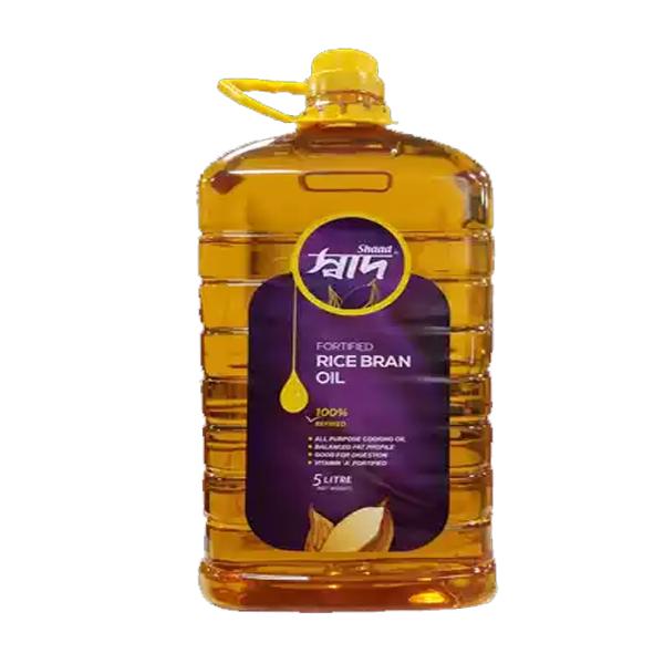 Shaad Rice Bran Oil (5Ltr)