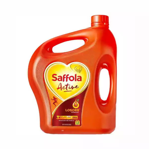 Saffola Active Oil (Blended Edible Vegetable Oil)- 5Ltr