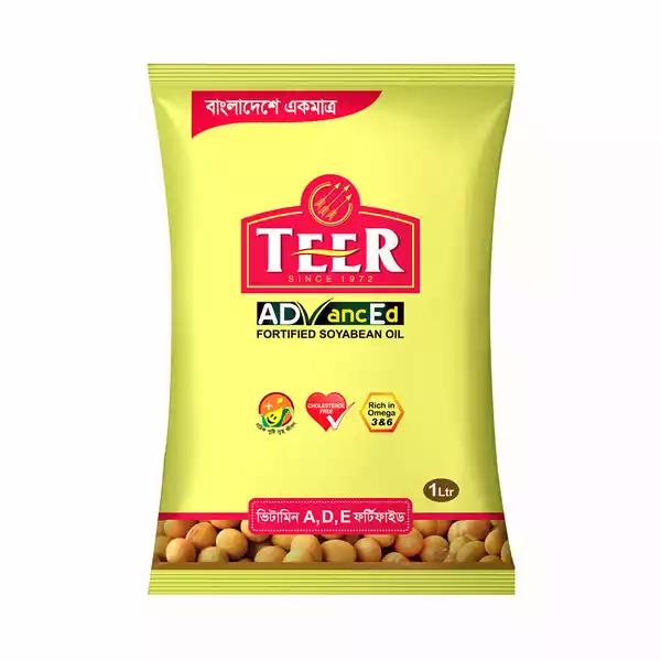 Teer Soyabean Oil (1 Ltr Poly)