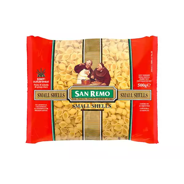 San Remo Small Shells Pasta (500 gm)