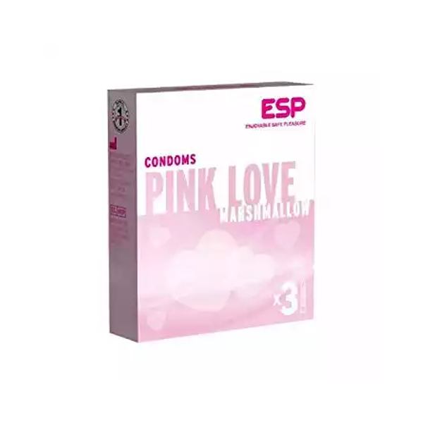 Pink Love Marshmallow Condoms (Width 52 ± 2 mm)