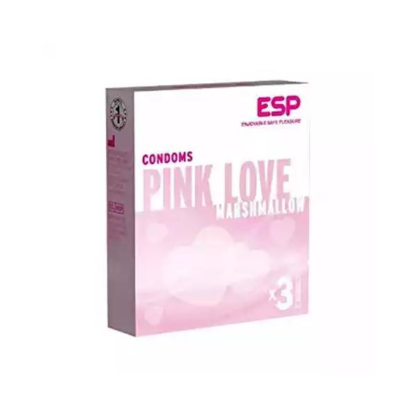 Pink Love Marshmallow Condoms (Width 52 ± 2 mm)