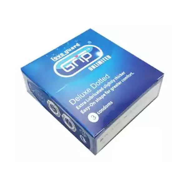 Grip Unlimited Deluxe Doted Condom (Width 52 ± 2 mm)