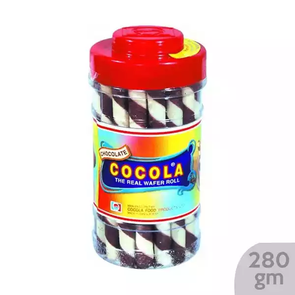 Cocola Chocolate Wafer Roll Jar (280 gm)