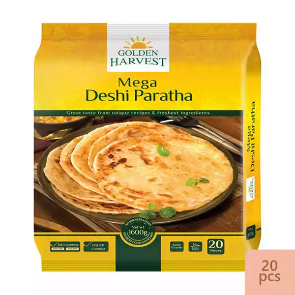 Golden Harvest Mega Deshi Paratha 1600 gm (20 PCS)