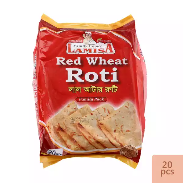 Lamisa Red Wheat Roti 800 gm (20 Pcs)