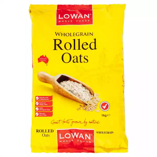 Lowan Whole Grain Rolled Oats (1 kg)