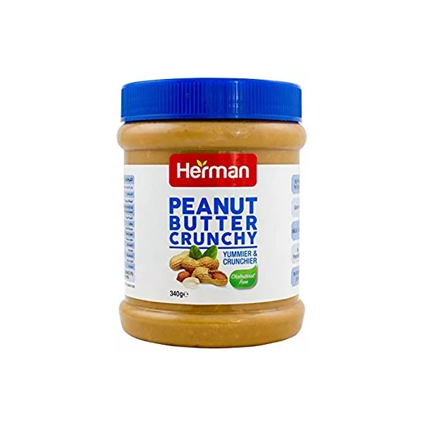 Herman Peanut Butter Crunchy (340 gm)