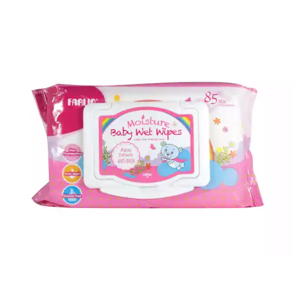 Farlin Baby Moisture Anti Rash Wet Wipes Pink  (85 pcs)