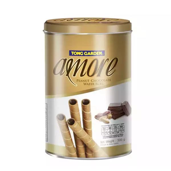 Amore Peanut Chocolate Wafer Roll  (300 gm)