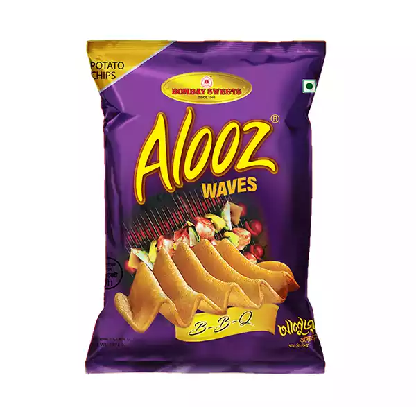 Alooz Waves B-B-Q Potato Chips (22 gm)