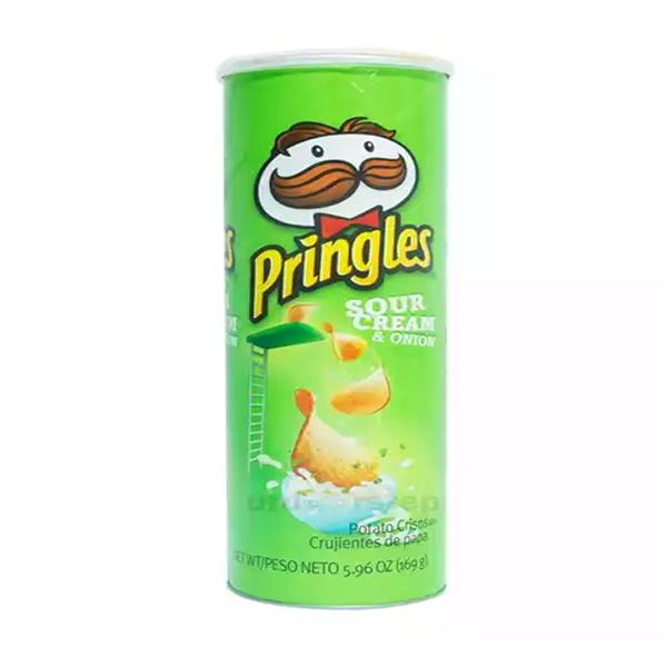 Pringles Potato Chips Sour Cream & Onion  (158 gm)