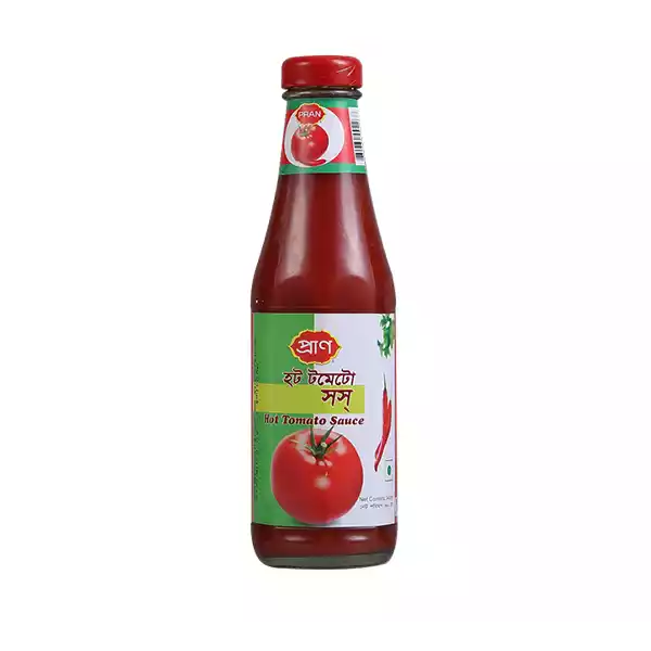 PRAN Hot Tomato Sauce  (340 gm)