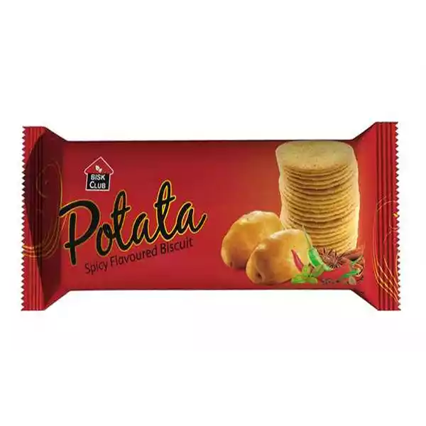 Bisk Club Potata Spicy Flavored Biscuit  (100 gm)