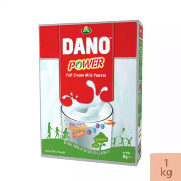 Dano Power Full Cream Instant Milk Powder Box (1 KG)
