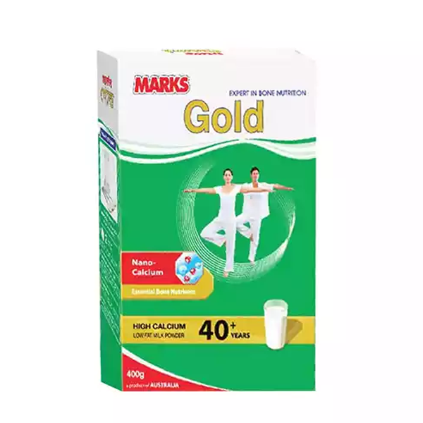 Marks Gold High Calcium Low Fat Milk Powder for 40+ yrs (400 gm)