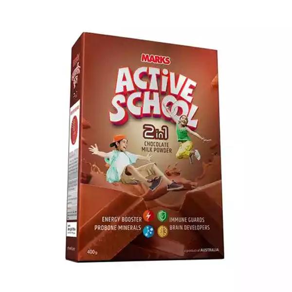Marks Active School 2 in 1 Chocolate Milk Powder (400 gm)
