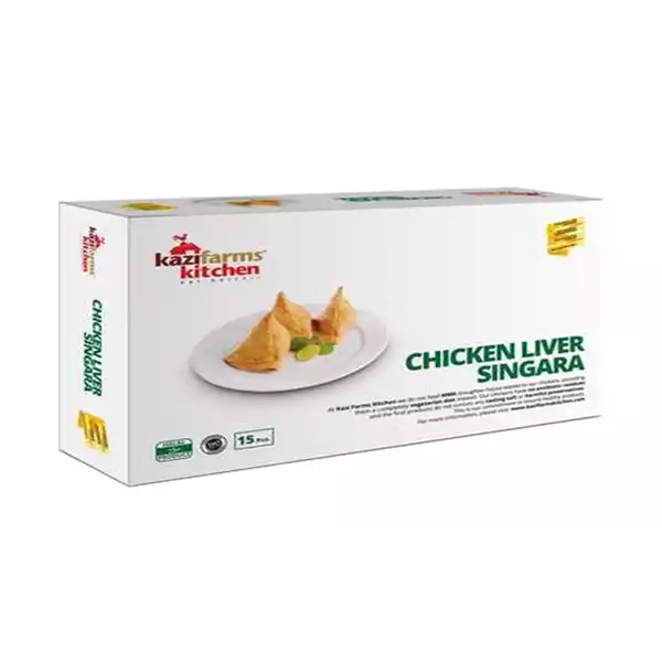 Kazi Farms Kitchen Chicken Liver Singara   (15 pcs 300 gm)