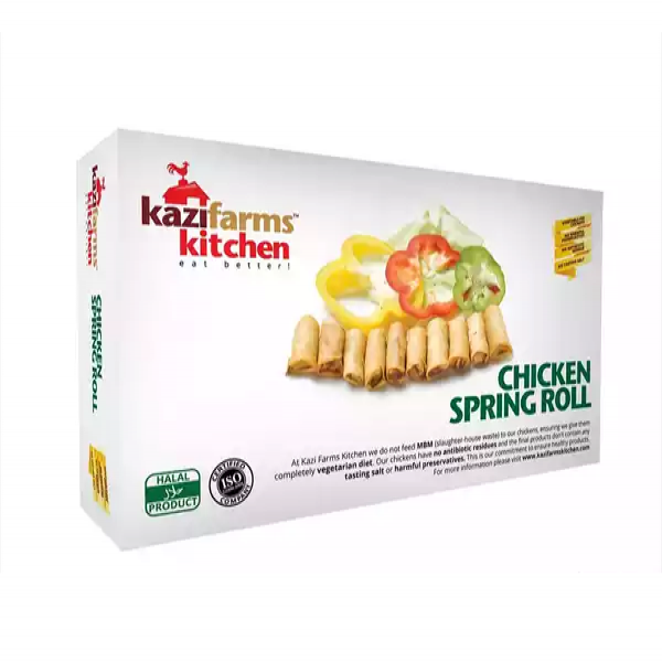 Kazifarms Kitchen Chicken Spring Roll  (250 gm)