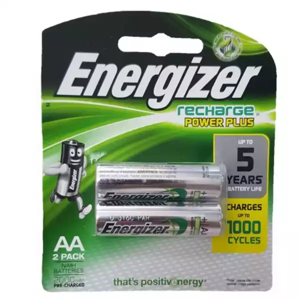 Energizer Recharge Power Plus Battery AA (2pcs)