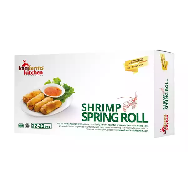 Kazi Farms Kitchen Shrimp Spring Roll (22-23 pcs)  (250 gm)