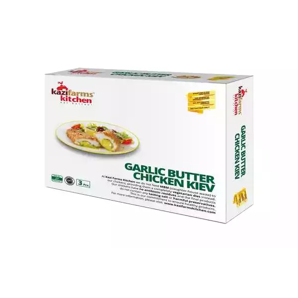 Kazi Farms Kitchen Garlic Butter Chicken Kiev (3 pcs 360 gm)