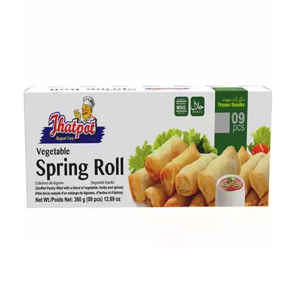 Jhatpot Vegetables Spring Roll   (9 pcs 360 gm)