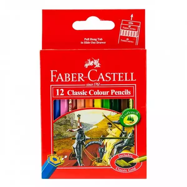 Faber Castell Classic Colour Pencils (Short) (12pcs)