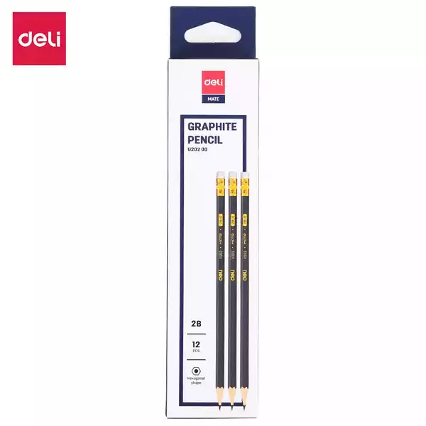 Deli 2B pencil (U20200) (12pcs)