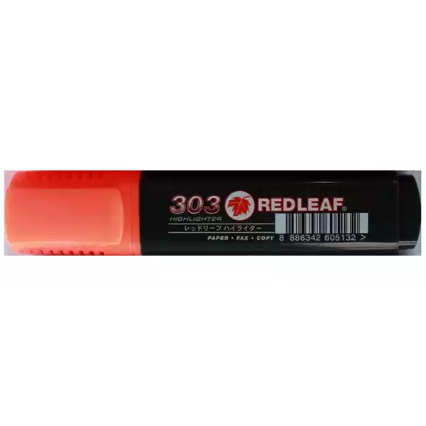 Red Leaf 303 Flourescent Highlighter Orange (1pcs)