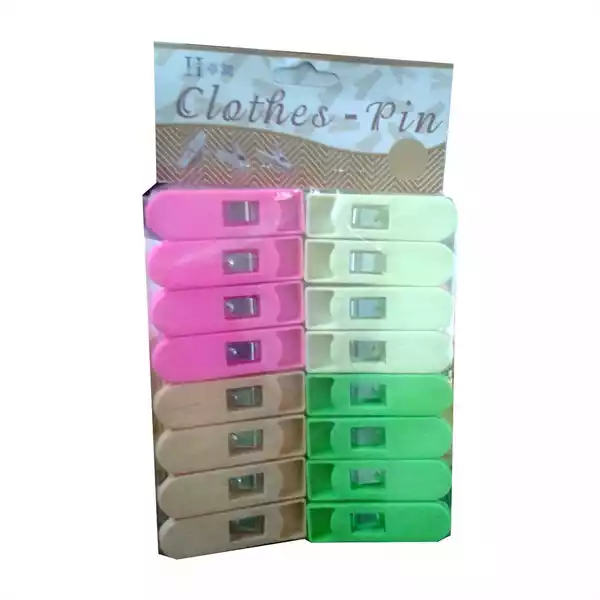 Cloth Pin 4 Colour (China) (16pcs)