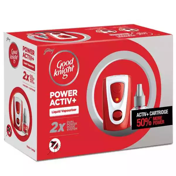 Godrej Good Knight Power Active (Dual Power) Machine + Refill (1pcs)