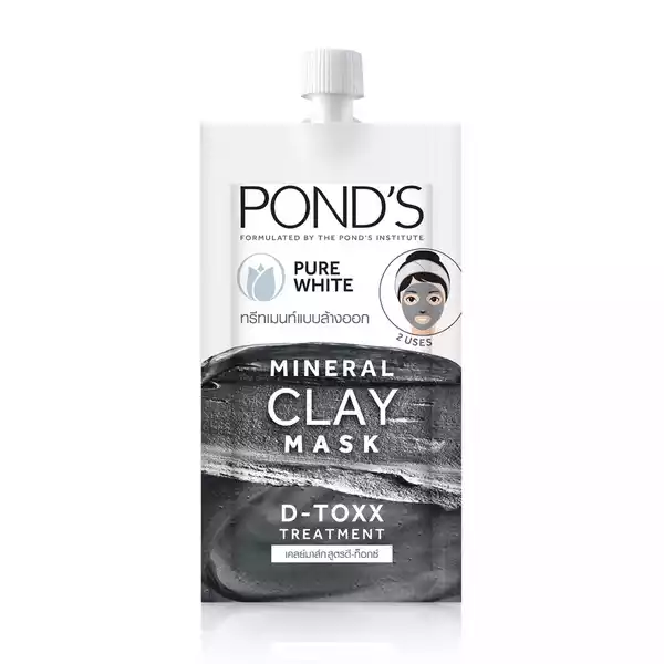 Pond's Mineral Clay Mask Pure White D-TOXX 8 gm