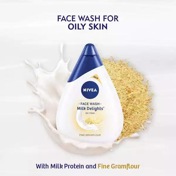 Nivea Milk Delights Fine Gramflour Face Wash For Oily Skin (100 ml)