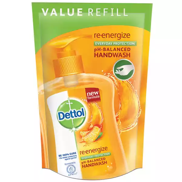 Dettol Handwash Re-energize Liquid Soap Refill (170 ml)
