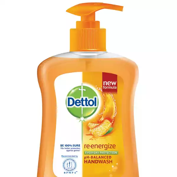 Dettol Handwash Re-energize Liquid Soap Pump (200 ml)