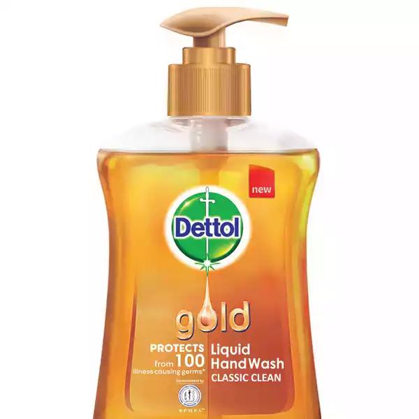 Dettol Handwash Gold Liquid Soap Pump (200 ml)