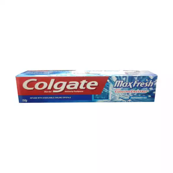 Colgate Max Fresh Blue Gel Peppermint Ice Toothpaste (150 gm)