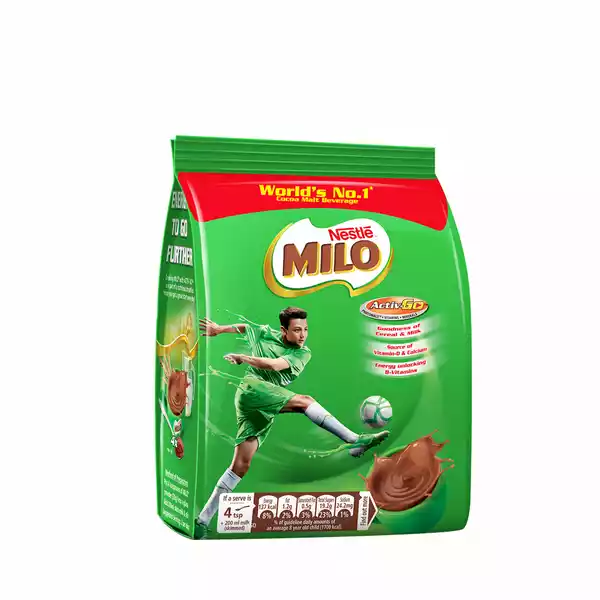 Nestle MILO Activ-Go (Chocolate Flavored) Powder Drink Pouch (250 gm)