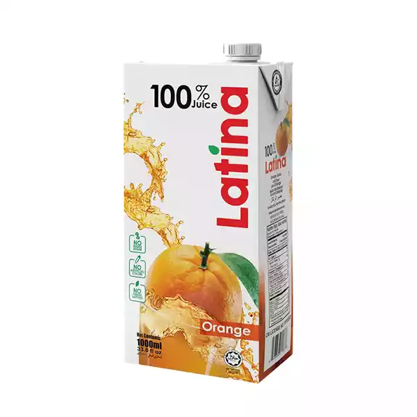 Latina 100 % Juice (Orange)(1 ltr)