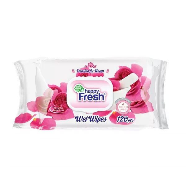 Happy Fresh Wet Wipes (120pcs)