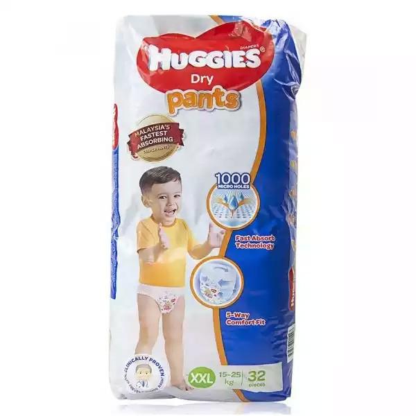 Huggies Dry Pants Baby Diaper (Pant ) XXL 15-25 kg (32pcs)