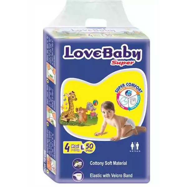 Love Baby Super Diaper 4 Maxi Belt L 7-18 kg (50PCS)