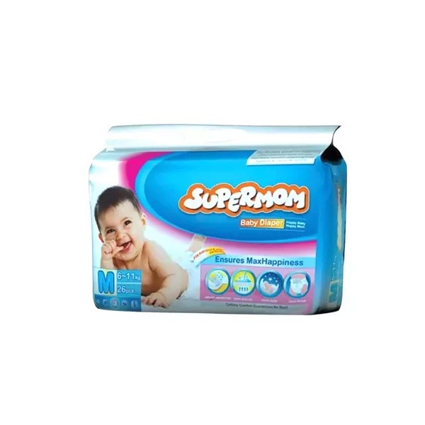 SUPERMOM Baby Diaper Belt M 6-11 kg (26pcs)