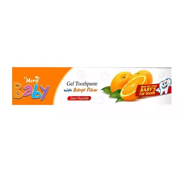 Meril Baby Gel Orange Toothpaste (45gm)