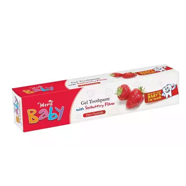 Meril Baby Gel Strawberry Toothpaste (45gm)