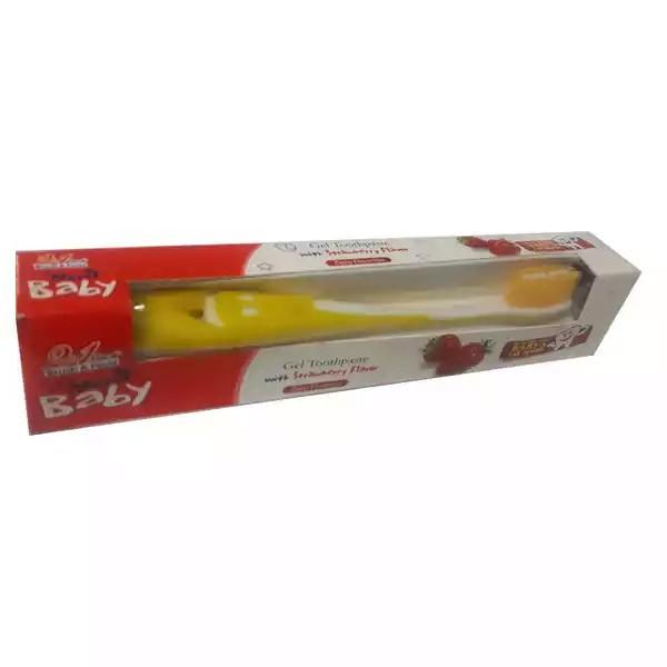 Meril Baby Gel Toothpaste & Brush (Orange) 45 gm Combo (1set)
