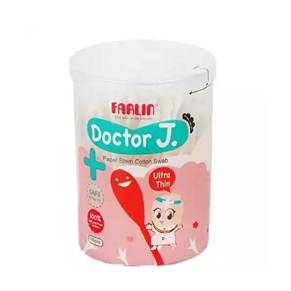 Farlin Baby Ultra Thin Cotton Buds Pink (BCB-006) (190pcs)