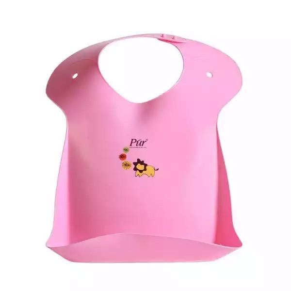 Pur Baby Plastic Bib (Pink) (R.6904) (1pcs)